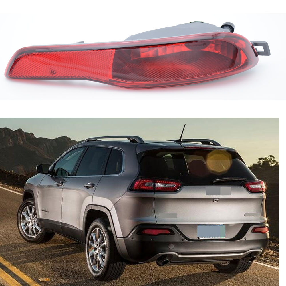1Pcs Right Side Rear Bumper Fog Light Foglamp Car Accessary For Jeep Cherokee 2014 right side car front bumper fog light foglamp for bmw e71 e72 x6 2008 2009 2010 2011 2012 part number 63177187630 w090 r