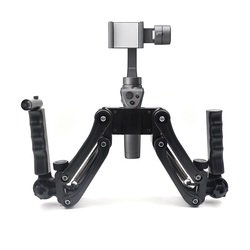 Dual Handheld Stabilizer holder Extended Bracket for DJI Osmo + mobile / RONIN S / Zhiyun / Smooth 4 Q Gimbal Camera
