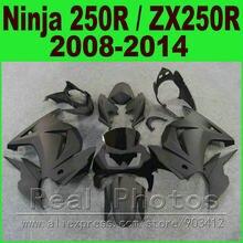 Flat matte black Kawasaki Ninja 250r green white Fairings EX250 year 2008 - 2014 ZX 250 fairing kits parts R9L9