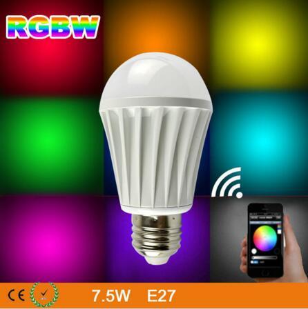 UL Listed WiFi LED Bulb,7.5W E27 WiFi Smart Dimmable Color Changing LED Light Bulb ul