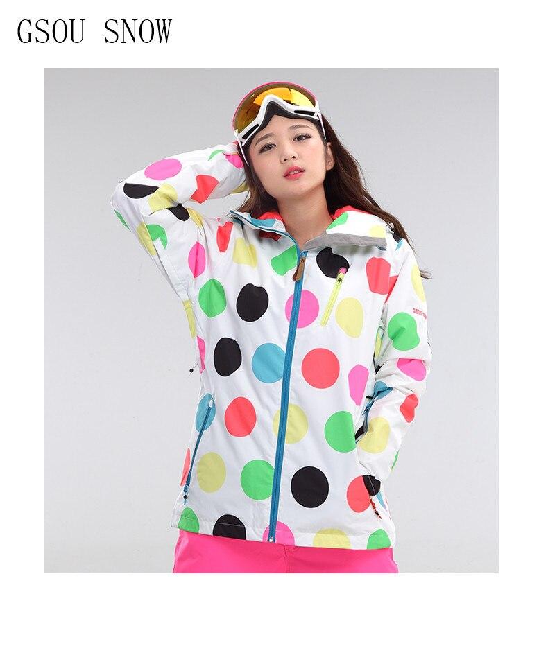 GSOU SNOW nouveau Designer combinaison de ski pour femmes en plein air randonnée Camping manteau hiver imperméable coupe-vent vêtements vestes de Snowboard