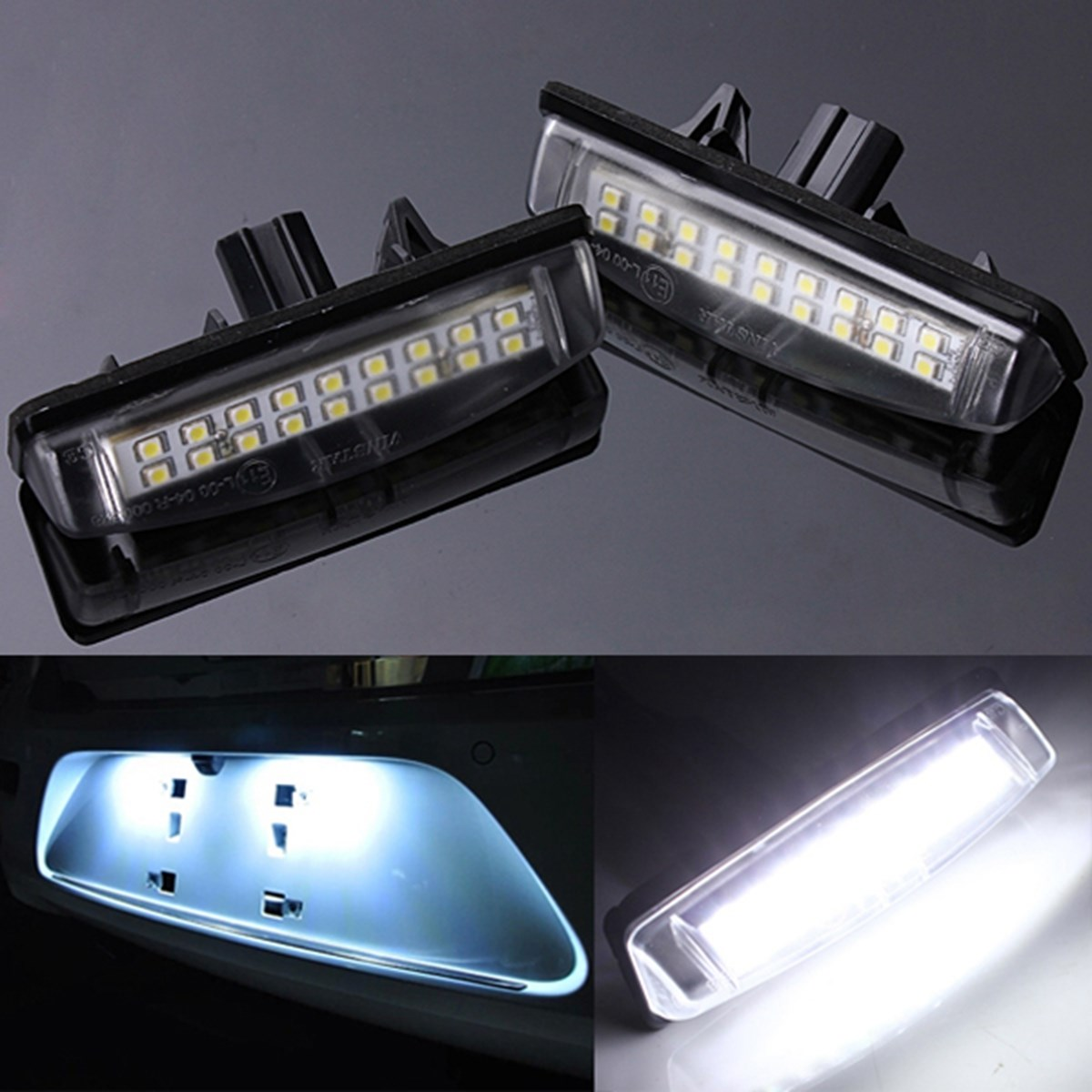 2X White Car LED License Plate Lights 12V Number Plate Lamp No Error fit For Lexus IS200 IS300 GS300 car led license plate lights for mercedes w220 s class 99 05 benz accessories smd3528 led number plate lamp bulb kit 12v