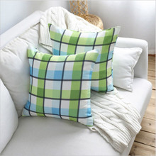 New Waterproof Mediterranean Blue Plaid Pillow Case 45x45cm Decorative Without Core For Home Accept Drop Shipping