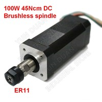 100W 45Ncm DC Brushless spindle 42mm motor ER11 Collets Match MACH3 for CNC drilling milling Carving Metal plastic wood working
