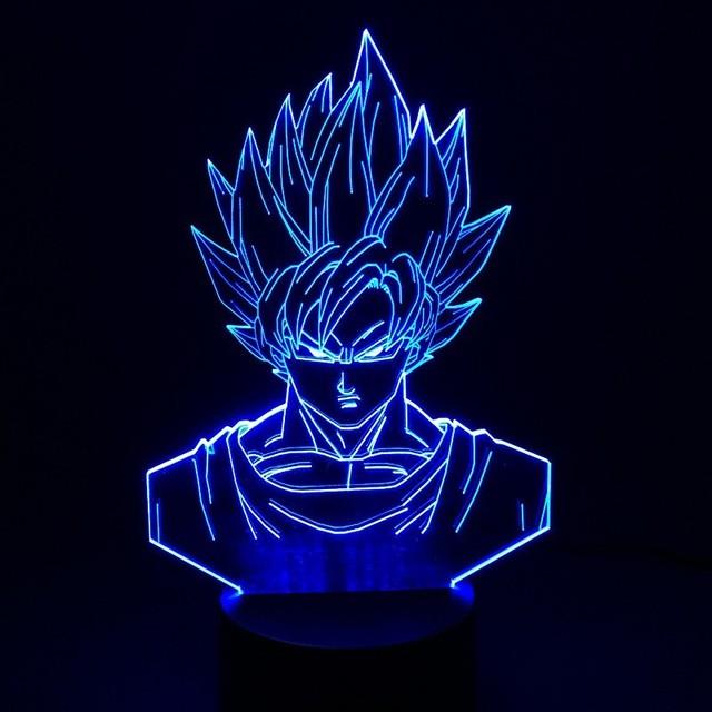 Dragon Ball Z Super Saiyan God Goku 3D Table Lamp