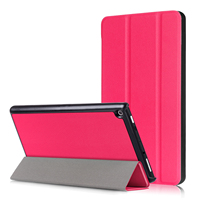 Business Ultra thin PU leather Smart Case For Amazon New kindle Fire HD 8 2017 Tablet PC Protective shell Cover+Stylus pen+film