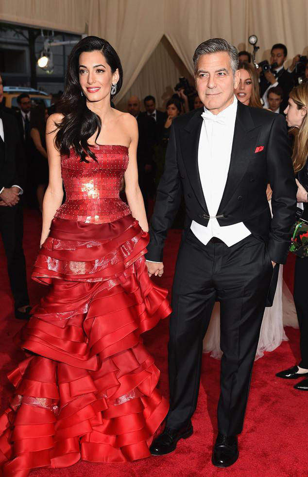 2017 George Clooneys black tuxedo, tuxedo, festival peak, wedding dress, dinner, ball, suit, lapel (coat + pants + Vest + tie)