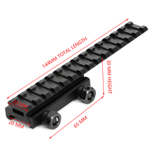 Tactical 20mm Weaver Picatinny Rail Scope Mount Extender Riser Hunting Accessories Flat Top Base Adapter Converter For Airsoft