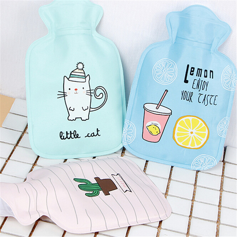 1pc Korean Fill-water Explosion-proof Hot Water Bottle Children Students Hand Warm Treasure Cartoon Warm Handbags electric heating belt hot water bag combo warm hands treasure flannel explosion proof belt charging plug