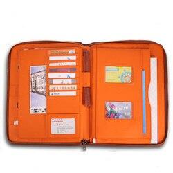 Multifunktions a4 dokument reißverschlusstasche ordner pu-leder dateiordner für immobilien dokumente papiere padfolio mit schlüsselhaken 1219