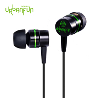 New URBANFUN 3 5mm In Ear Earphone 1DD With 1BA Hybrid Drive HIFI Metal Earphone Monito