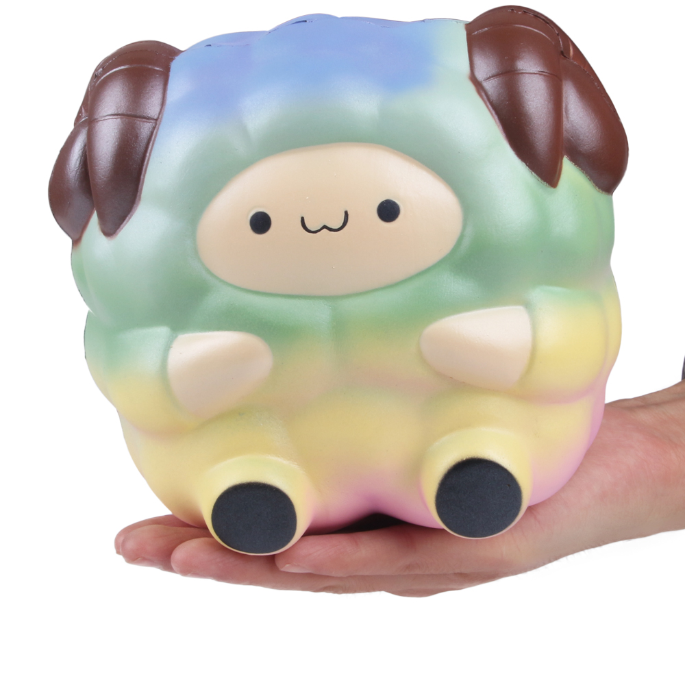 2018 New Kawaii Squishy Jumbo Sheep Slow Rising Reduce Pressure Stress Relief Kids Squeeze Toy Gift For Children