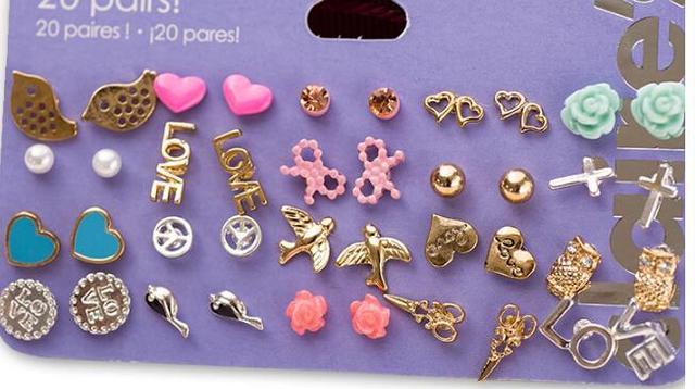 Min Order 10 Claire Stud Earring Pack Set 20 Pairs Birdicecream Stars Cross Flower Love Heart