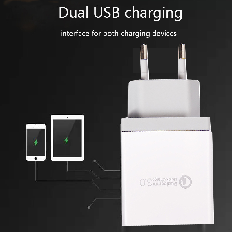 Fiuzd USB Charger for Huawei P30 Huawei mate 20X P20 P10 Pro p20 p10 Fast Phone Charger for iPhone Xs X 8 7 4 port charger in Mobile Phone Chargers from Cellphones Telecommunications