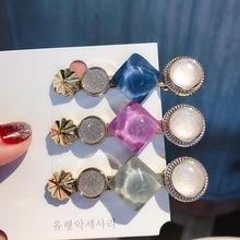AHB Hair Accessories Pearl Clips for Women Korean Barrettes Women/Girls Elegant Crystal Hairpins Fashion Girls Headwear