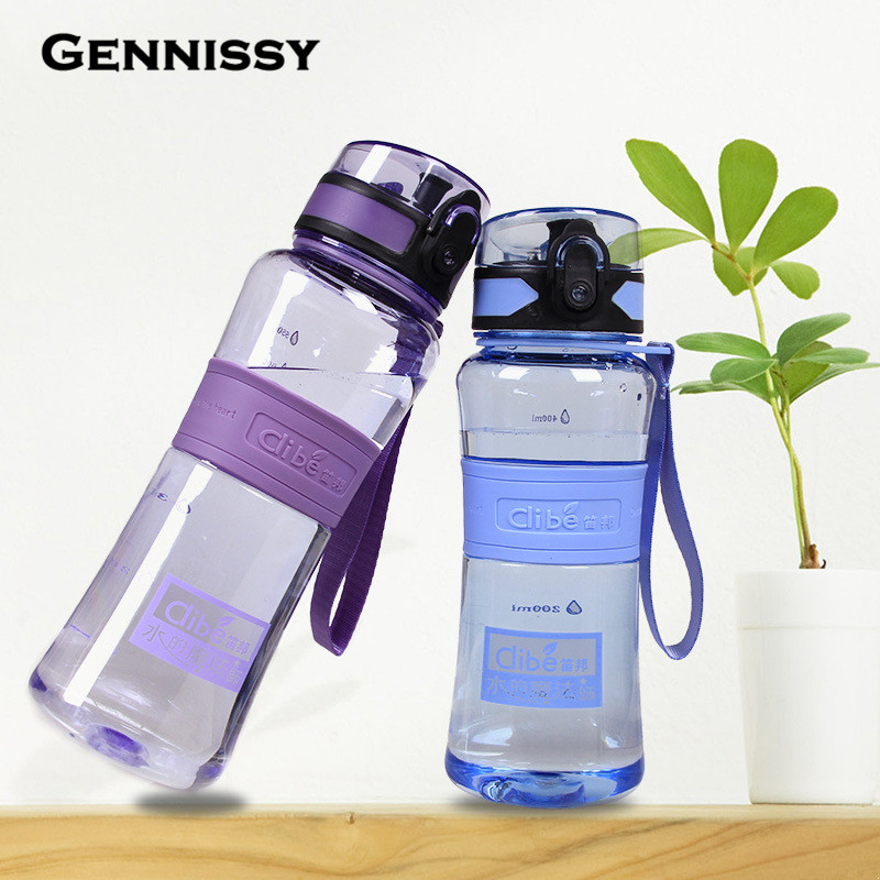 Leak-Proof Seal 350ml/450ml/600ml/1000ml Nozzle Sport Bicycle Plastic Tritan Water Bottles <font><b>Cup</b></font> With Cover Lip Filter BPA Free