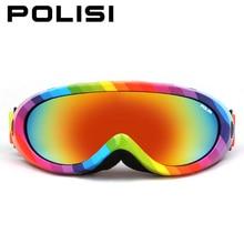 Polisi invierno snowboard protección skate esqui gafas de moto de nieve de esquí de nieve gafas hombres mujeres al aire libre anti-vaho uv400 eyewear