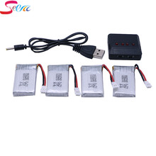 4 pcs 3.7V 720mAh 25C V931 F949 For Syma X5 X5C X5S X5SC X5SW Quadcopter Upgrade Battery 4in1 charger 4 IN 1