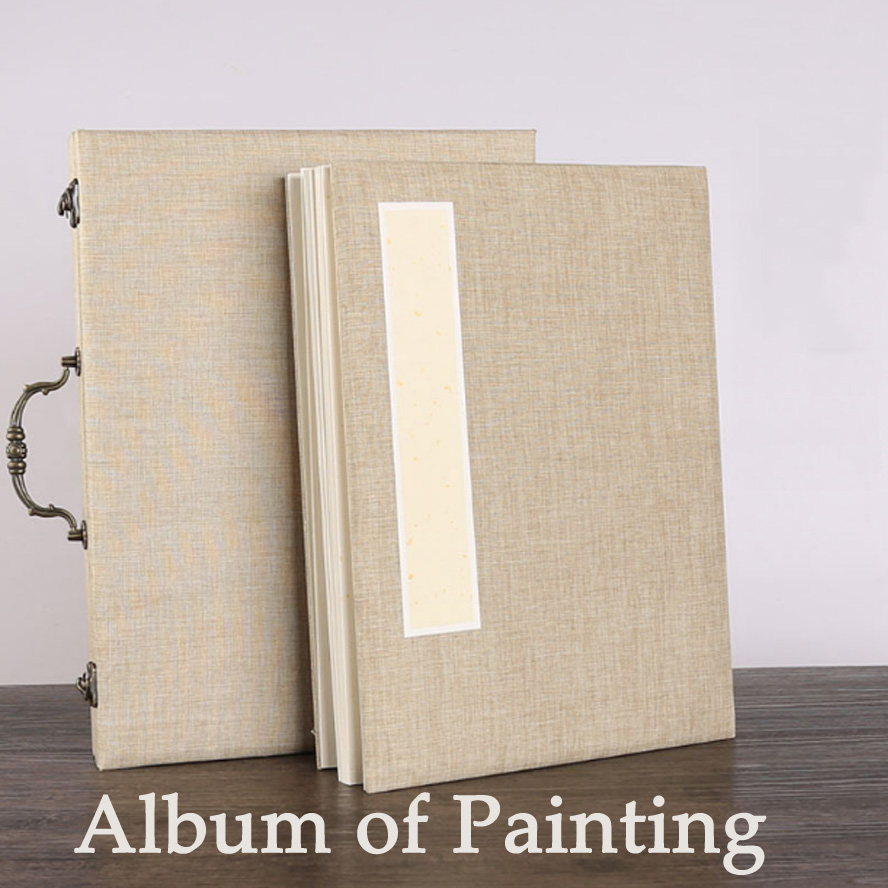 Traditional Chinese Album of Painting Calligraphy Page Book Blinding Notebook Fiberflax Painting Supply Stationary interpretations to the book of lieh tzu traditional chinese culture library chinese edition