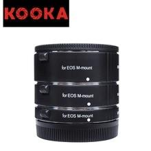 KOOKA KK-CM47A Aluminium Alloy Extension Tube Set with Auto Focus TTL Exposure for Canon EOS Mirrorless Cameras (10mm 16mm 21mm)