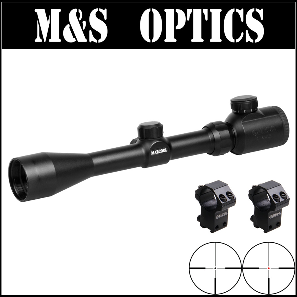 Marcool EST 3-12X40 Red&Green Illuminated AirSoftSport Tactical Night Vision Hunting Scope For Rifles With Riflescopes Mounts marcool s a r za5 hd 3 15x50 sfl ffp under 7 62 bullet guns tactical hunting riflescopes with rifle scope mounts free shipping