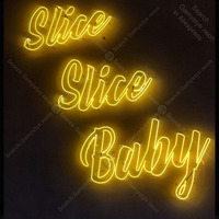 Neon Sign for Slice Slice Baby Neon Bulb sign handcraft Real Glass tube Beer Bar windows Dropshipping neon bar lights Decor Room