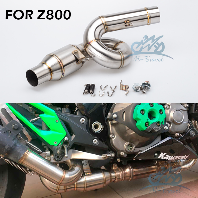 Z800 mittleren verbinden 2012-2017 Motorrad Auspuff Schalldämpfer Escape Verbindungsrohr Vorne Link Rohr z800 auspuff z800 link rohr