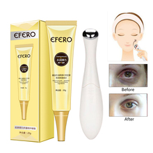 Collagen Eye Cream Serum Dark Circle Remove Anti-Aging Wrinkle Moisturize Puffiness Electric Vibration Eye Massage Pen Massager