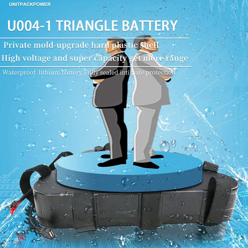 48V 1800W 1500W 1200W 48V 1000W 750W Ebike batería de alto rendimiento triangular con puerto USB + botón de encendido