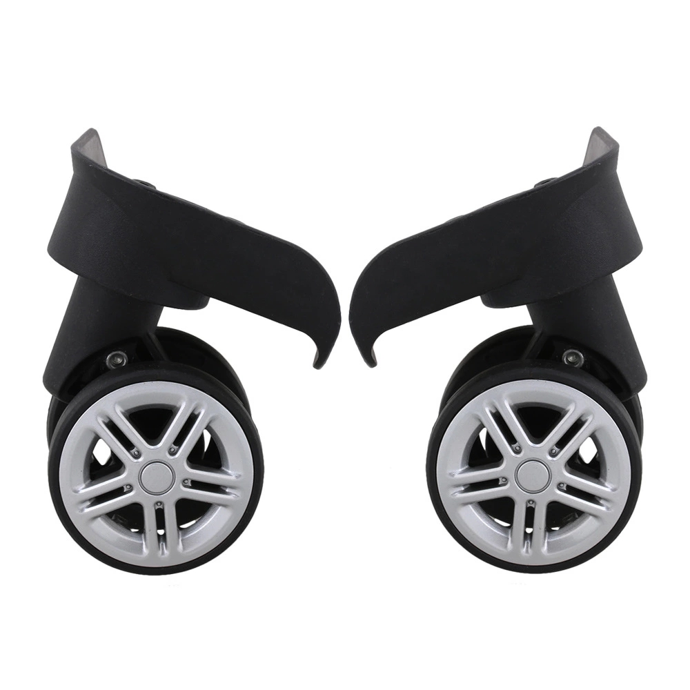 2pcs Plastic Spinner DIY Luggage Suitcase Caster Wheel L & R