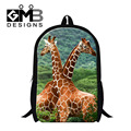 Dispalang Giraffe School Bags Kids Mens Casual Travel Shoulder Bag Children Animal Schoolbag For Teenager Boys Book Bag Mochila