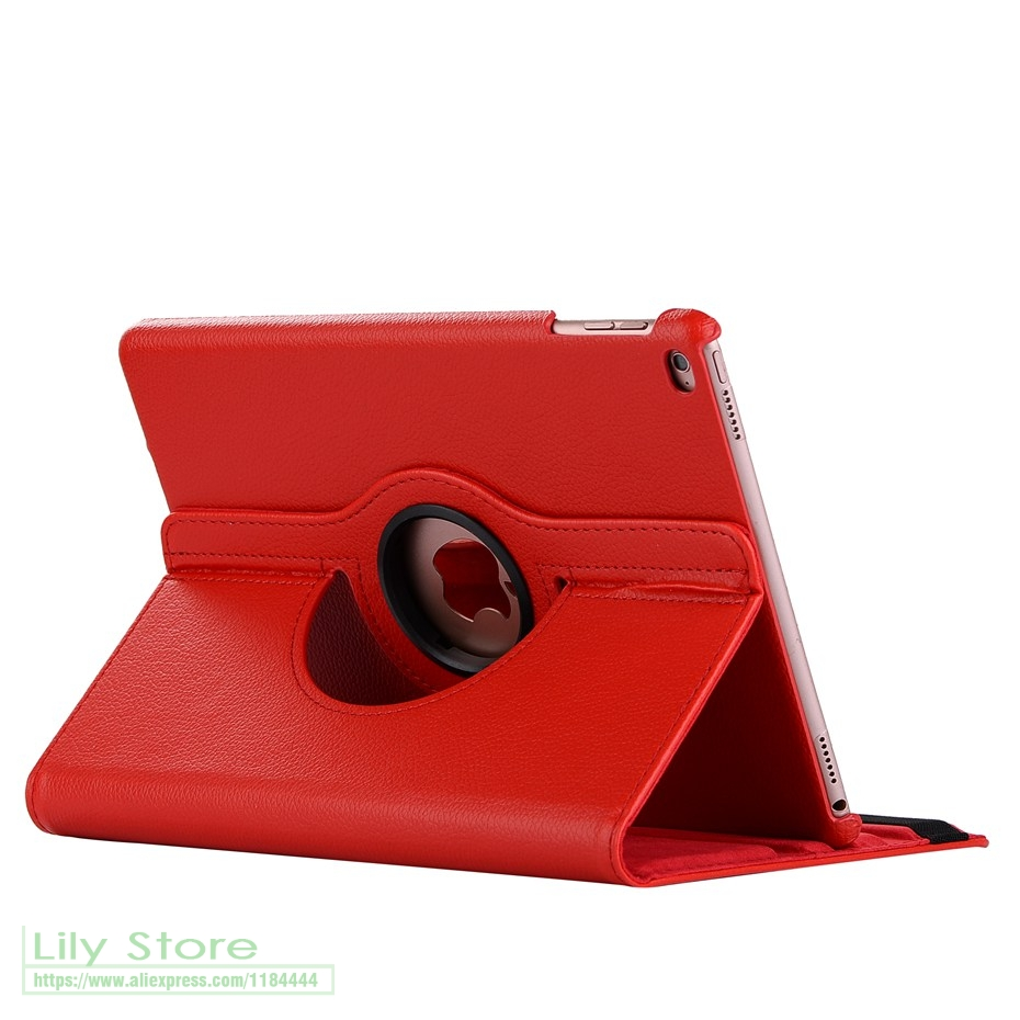 3In Rotating Coque Funda Leather Smart Cover Case For Apple Ipad Air 1 Air 2 New Ipad 9.7 2017 A1822 A1823 A1893