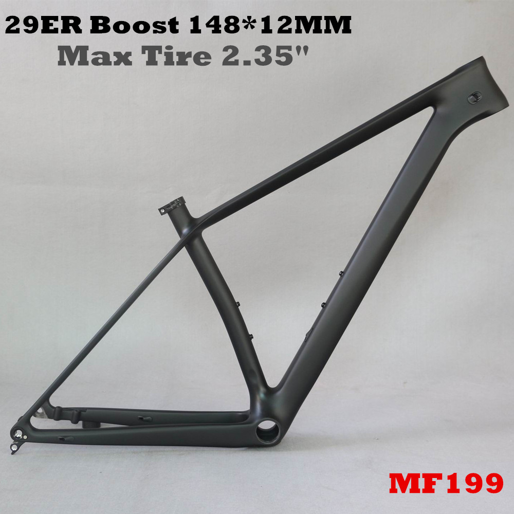 29er Boost 148x12 axle thru MTB carbon frame 29 inch size 15/17/1929 bicycle carbon frame max tire 2.35 bicycle frame 29er