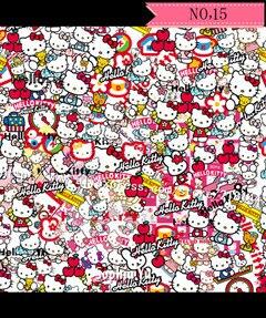 200cmx50cm Hello Kitty Doodle Car Vinyl Wrap Film Glossy For Auto