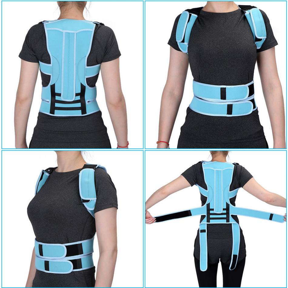 Adult Back Posture Corrector Brace Belt Straight Back Shoulder Waist Spine Support Belt Health Posture Brace Corset Foot Care