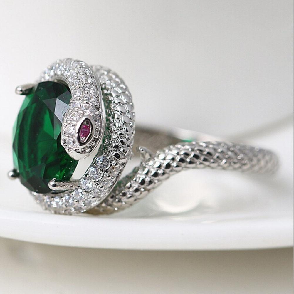 Snake Fish Gem Ring European And American Style Snake Zircon Ring Zircon Snake Wedding Ring Popular Zircon Ring Freeshiping