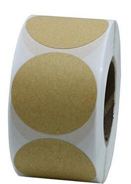 1.5 Round Brown Kraft Paper Sticker Labels Packaging Seals Crafts Wedding Favor Tag 500 Total Per Roll (1 roll)