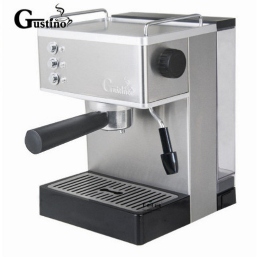 Gustino 19Bar 110V~220V Semi Automatic Coffee Maker Espresso Machine with Froth Milk Stainless Steel 304 Housing