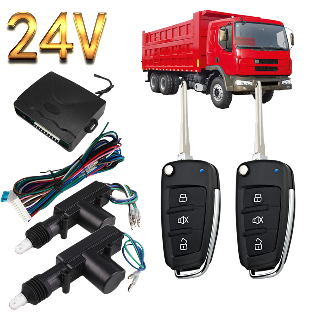 BIUYEEE 8118 15 FLIP KEY 24V universal for truck Remote control Vehicle Keyless Entry System 2