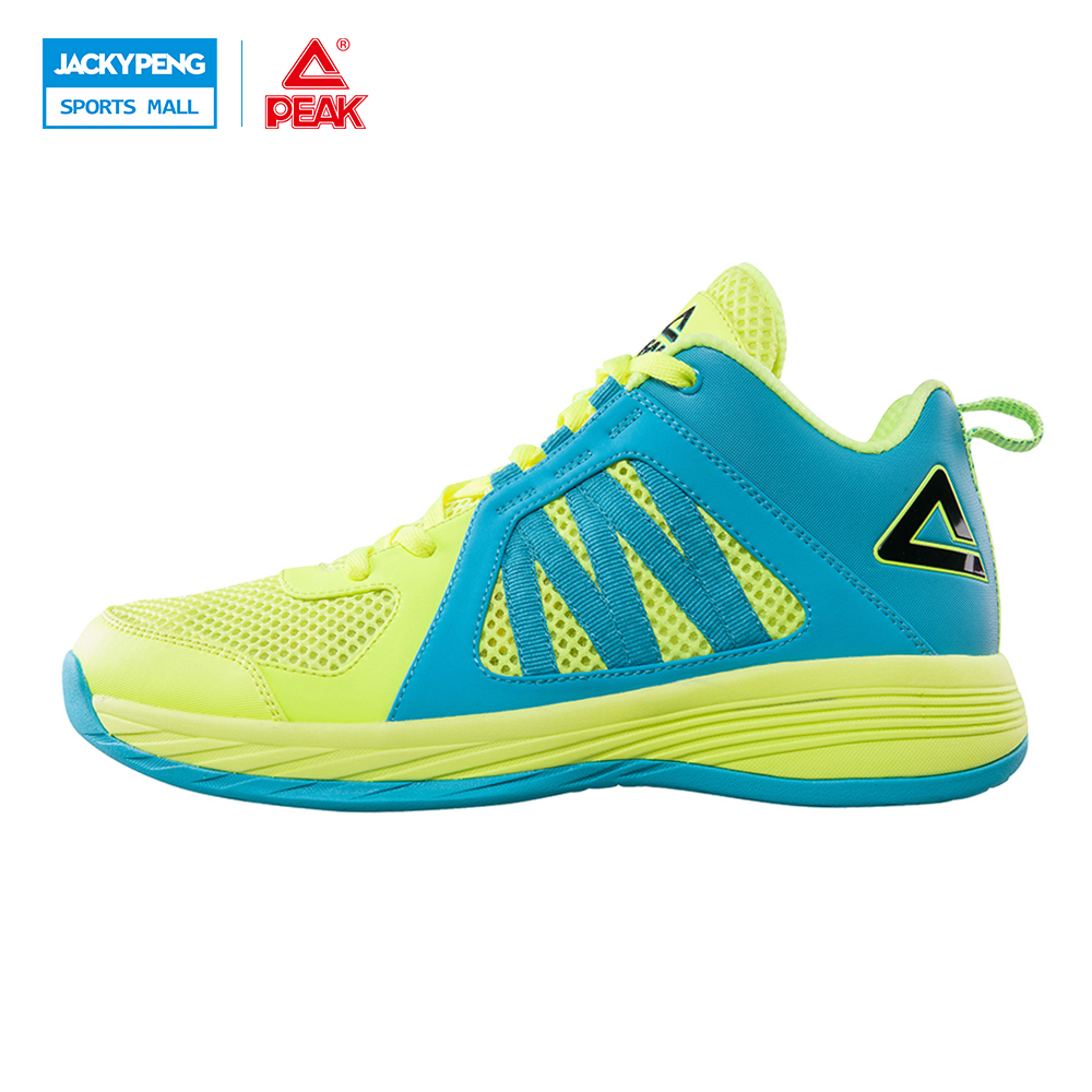 PEAK SPORTS Men Basketball Shoes Medium Cut Mesh Breathable Competitions Sneakers Authent FOOTHOLD Tech Training Ankle Boots