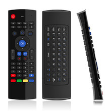 Hot Sale Six axis AirFly mouse T3  2.4G Wireless Keyboard For Android TV Box remote control 3D Sense Motion stick  game handle