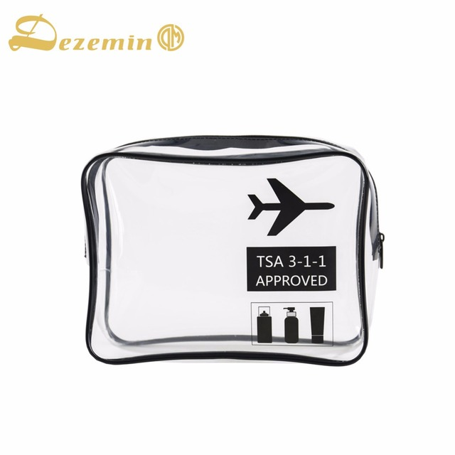 Dezemin High Quality Tsa Clear Carry On Travel Toiletry Bag For Business Ttrip Holiday Environmentally Friendly
