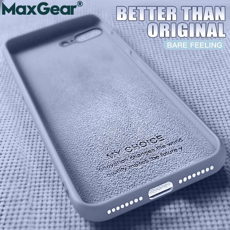 Original Liquid Silicone Luxury Cases For Apple IPhone Brand 6 6S 7 8 Plus X XS Max XR Cover I Phone 8Plus 7Plus 5 5S SE 4 Funda
