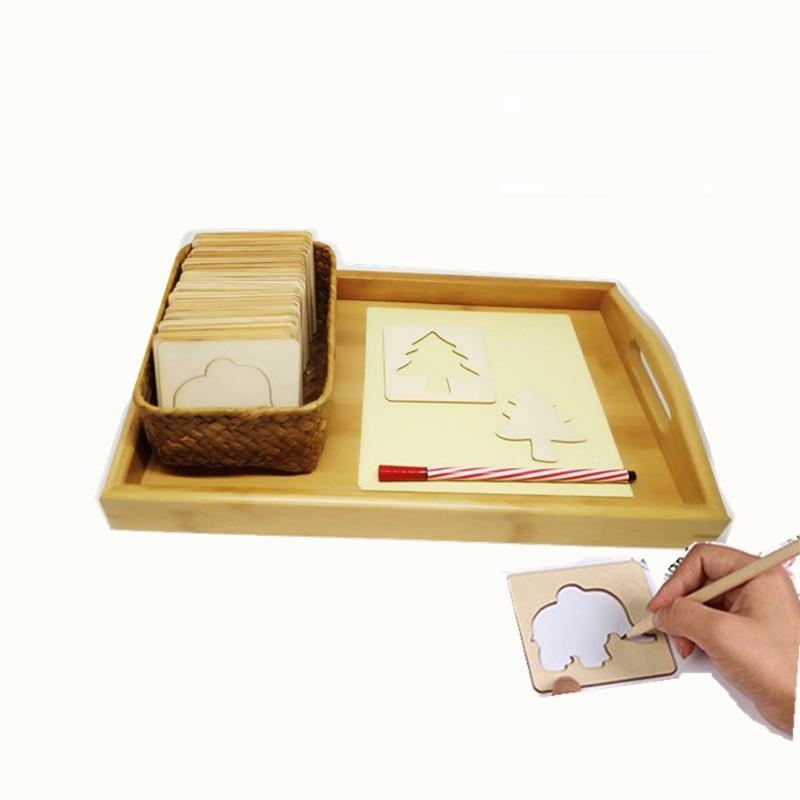 Children's Drawing tool template Skeleton Montessori teaching aids Montessori education educational toys стоимость