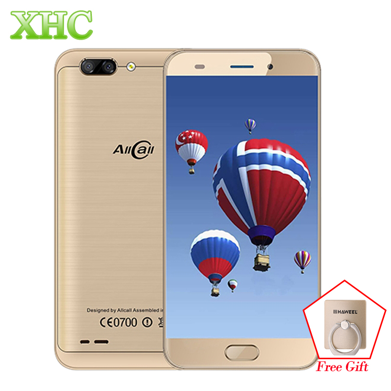 LTE 4G AllCall Atom 2GB+16GB 5.2 inch Android 7.0 Mobile Phones Dual Back Cameras MTK6737 Quad Core up to 1.3GHz OTG Dual SIM