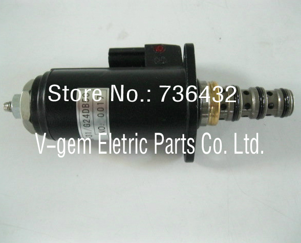 Fast Free shipping!Excavator solenoid valve Lock-Up Solenoid YN35V00050F1/KWE5K-31/G24DB50 to Kobelco SK200-8 250/260/330/350-8