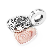 Pandulaso 925 Sterling Silver Jewelry Love Makes A Family Charm Fit Woman DIY Charms Original Bracelets