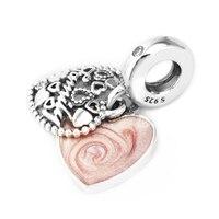 Pandulaso 925 Sterling Silver Jewelry Love Makes A Family Charm Fit Woman DIY Charms Original Bracelets