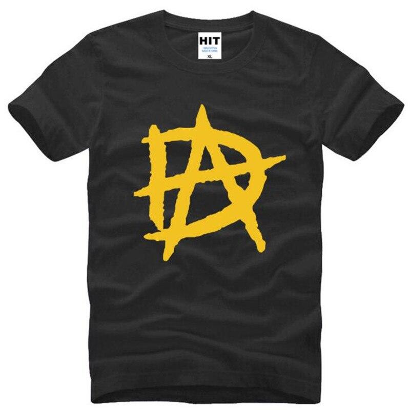 Dean Ambrose DA LOGO Printed T Shirts Men Summer Style Short Sleeve O Neck Cotton Men