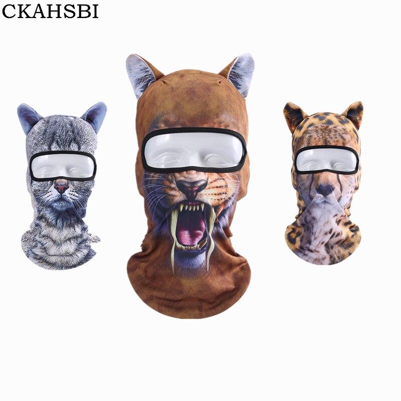 CKAHSBI 3D Cut Animal Ear Balaclava Full Face Mask Bicycle Hats Snowboard Halloween Winter Warmer Face Mask Dog for Men Women